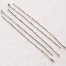 "Matt Silver Plated 2"" (50mm) Headpin - 50"